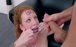 Salvaje follada en un casting de BANG a una pelirroja delgadita